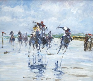 Racing on the beach at Laytown, County Meath, Ireland